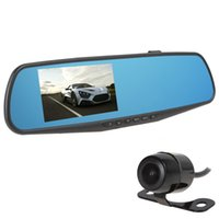 2 channel dvr - Full HD P Double Lens G Sensor Car DVR IR Night Vision Wide Angle Car Camera Vehicle Travel Recorder CAL_308