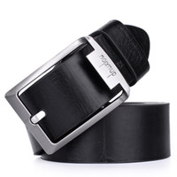 atmosphere size - Top selling The High grade Solid Color Leather Belts For Man Fashion Business Retro Atmosphere Buckle Belt