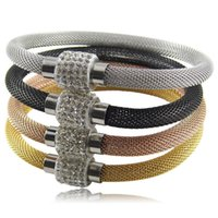 Wholesale NEW High quality mesh chain Stardust bracelets rose gold mesh bangles mud ball chain women bracelet shamballa bracelet pan001