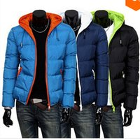 Wholesale 2014 mens winter jacket men s hooded wadded coat winter thickening outerwear male slim casual cotton padded outwear