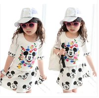 Cheap new arrival 2014 children's fashion mickey mouse girl clothes set kids clothes girls clothing sets minnie sport suit spring