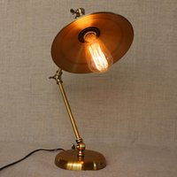 Wholesale American Style Table Lamp Vintage Bedroom Lamp Loft Table Lamp Study Lights