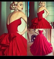Cheap Modern Red Ball Gown Wedding Gowns 2015 Strapless Satin Pleated Corset Evening Bride Dress Bridal Dresses With Petticoat Free Shipping QM