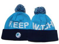 Beanie/Skull Cap black mens hats - Blue Black Keep Watch Mishka Beanies caps with pom winter hat Many Quality womens mens brand street knitted caps DD