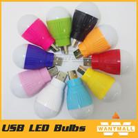 Wholesale Portable Mini USB LED Lamp Soft USB Bulb LED Lights Used for Keyboard power bank socket