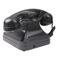 antique cordless phones - Retro Style Antique Telephone Landline Wired Table Cordless Telephone for Home Office Black