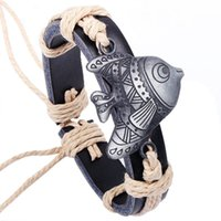 alloy stainless marine - Factory Sl048 marine series Shoulian alloy genuine leather jewelry factory outlet goldfish Bracelet Valentine s Day Gift