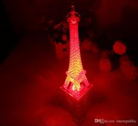 beautiful table lamps - Romantic Creative Eiffel Tower Beautiful Table Home Wedding Decor Night Light Efficient Lamp Decoration Gift Z00562