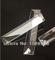 Wholesale X100MM crystal triangle PRISM PART in hole crystal chandelier part pendant prism drop for chandelier