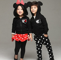 Cheap baby girl mickey minnie clothing set Best boys cartoon tracksuit