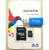 Wholesale ADATA Memory Cards GB GB GB GB Micro SD TF Memory SDHC Card Free Card Reader for Smart phones Cameras