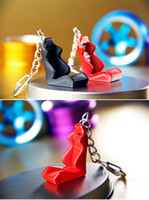 Wholesale 2016 Car Seat Styling Keychain Auto Parts Modified Keyring Car Hellaflush Key Chain Blue Red Black