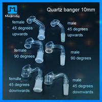 Wholesale New Quartz Banger Nail Thicken Bucket Glass Quartz Nail Male Female mm mm For Glass BONGS Glass Water Pipes
