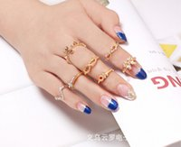 Cheap New arrival fashion Women's ring joints ring 7 in 1 set free shipping