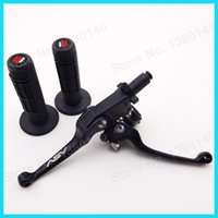 asv clutch levers - Handlebar Hand Grips Black ASV Folding Foldable Brake Clutch Levers For CRF KLX TTR Pit Dirt Bike MX Motocross Motorcycle order lt no trac