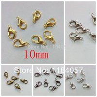 Wholesale 10mm Mixed Lobster Trigger Claw Clasps Connector Silver Plated Jewelry DIY Jewelry Findings