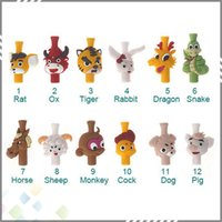 animals zodiac signs - Fashion EGO Lovely Animal Silicone Drip Tip twelve Chinese zodiac signs Animal Shape Drip Tips for Atomizer Mouthpieces DHL Free