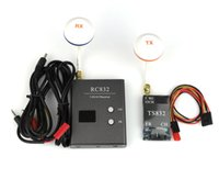 Wholesale Boscam FPV Ghz mW Wireless A V Transmitter TS832 Receiver RC832 Dome Antenna Tx Rx Set for aircraft KM range