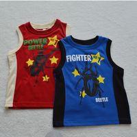 beetle shirt - baby boys summer years boys sleeveless T shirt beetle print children clothes