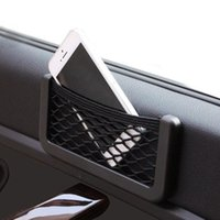 Envío libre del coche del asiento trasero del lado Organizador Tidy neto del bolso del caso del almacenaje del bolsillo del sostenedor para el teléfono