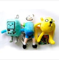 big adventure games - Adventure Time Stuffed Plush Toys Adventure Time with Finn and Jake action figures BOM Keychain