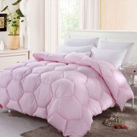 Wholesale 100 Polyester Thickened Soft Warm Quilt Comforter Duvet for Winter Queen Size x cm Fast Shipping