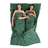 Wholesale Travel Double cotton sleeping bag Ultraportability Adult Spring and autumn outdoor Tourism a thin section