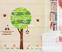animal live video - wall stickers home decor three generations wall stickers cartoon children s room bedroom backdrop Happy Tree sticky Videos XY1011
