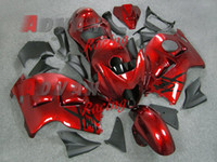 Wholesale Metallic Red Injection molding custom painted fairing Suzuki Hayabusa GSX1300R