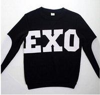 Wholesale NEW KPOP Unisex Black EXO SBS Sweatshirts Miracles Cotton Hoodies wy103 Miracles in December XIUMIN LUHAN SEHUN KRIS BLACK KPOP