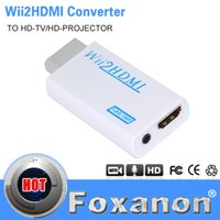 Wholesale Foxanon Brand For Wii to HDMI Wii2HDMI Adapter Converter Full HD P P Output Upscaling mm Audio Box Converter Adapter