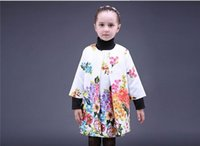 Cheap 2016 Newest White Girls Flower Clothing Set With Trench And Vest Dress Fashion Baby Kids Suits Delicate Child Clothing SD746