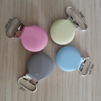 Wholesale per round top metal suspender clips mixed colors suspender clips pacifier clips hot selling