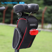 bicycle saddle bag - Roswheel Folding Bike Bicycle Bag Outdoor Sport Cycling Saddle Bag L Back Seat Seatpost Tail Bag Pouch Bolsa Bicicleta