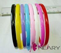 plastic headbands - Headbands Cute Girl Candy Color Plastic Headbands Head Accessories Women Hair Jewelry Mix Color