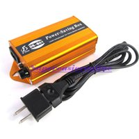 Wholesale 24KW Electricity Energy Money Bill Power Saver Equipment Saving Box Up to amp EU US Converter Plug For Home Office Shop