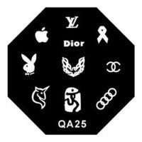 beautiful love images - Retail QA Series cm nail Art Stamp Stamping Image Konad Plate Print Nail Art Template I love you Beautiful Logo QA25