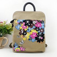 Wholesale 201 new style of hand painted Chinese wind Yunnan dual ladies handbag or backpack laptop bags women