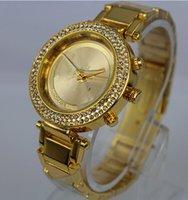 Wholesale New Luxury Quartz Watch Stainless steel Clock Mens Business Clock Wristwatch Automatic Mechanical women Wrist Watch Alloy rhinestone watch
