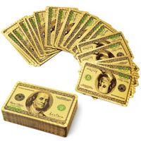 Wholesale 2016 Hot Sale High Standard Poker k Gold Playing Cards Bridge Size Regular Index