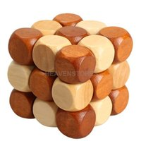 Wholesale Dragon Tail Style Rubber Wood Adult Children Intelligence Puzzle Lock Toy hv3n
