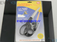 Household Scissors sewing scissors - Laser Guided Scissors Stainless Trimmer Cuts Straight Fast Sewing Fabric Paper Craft Cut Straight Lines