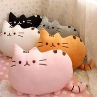 best sleeping pillows - 40X30cm New Cat Sleeping Pillow With Zipper PP Cotton Biscuits Big Cushion Pusheen Colorful pillows Best Gift for Kids