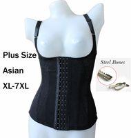 Wholesale Asian Sz XL XL Summer Mesh Plus size Magic Body Shapers Sexy Waist shaper Corsets Shapewear Steel Boned Underbust Black Body Shapers