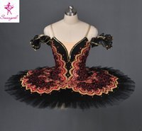 Wholesale Adult Black Pancake Ballet Tutu Skirt For Girls Professional Custom Made Tutu For Don Quixote Dulcinea AT1057
