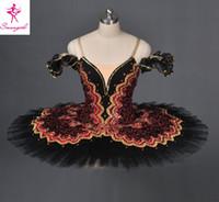 adult ballet tutu - Adult Black Pancake Ballet Tutu Skirt For Girls Professional Custom Made Tutu For Don Quixote Dulcinea AT1057