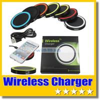 achat en gros de qi nexus chargeur sans fil-Chargeur sans fil Qi Charging Pad Pour Qi-abled Téléphone dispositif portable Samsung S6 LG Nexus Avec le paquet de détail