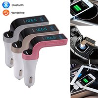 car bluetooth modulator - Wireless Bluetooth USB Auto Car MP3 Audio Player FM Transmitter Modulator HandsFree LCD Display Kit for iphone samsung mobile phone