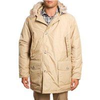 wool fabric coat - Long jacket men Arctic Anorak beige Down jacket mens coat Warm winter coat Raccoon fur collar waterproof fabric clothing