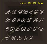 alphabet letter patches - ALPHABET letter rhinestones hotfix motif heat transfer iron on patch garment accessory